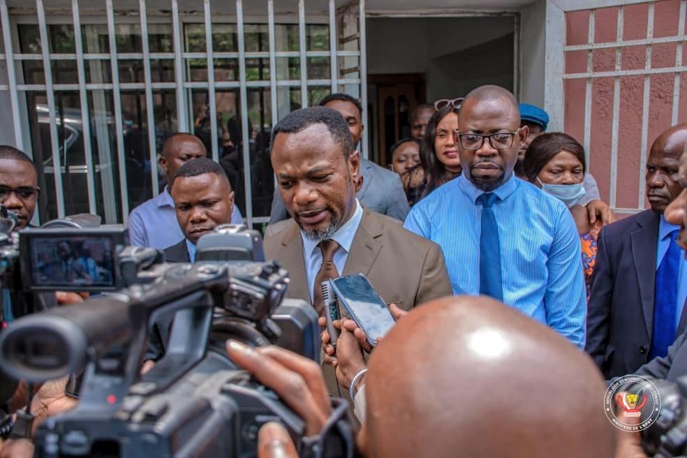 Tony Mwaba s'enquiert de l'évolution des chantiers du SGC et d'EDUC TV